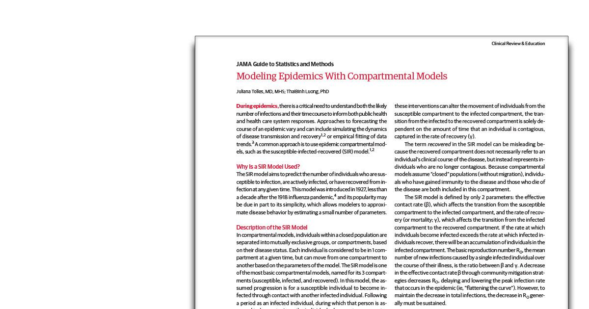 Modeling Epidemics With Compartmental Models